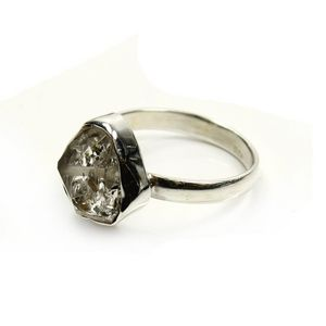 Herkimer Diamond Rings Sterling Silver (1 Piece) from Rockshop Wholesale
