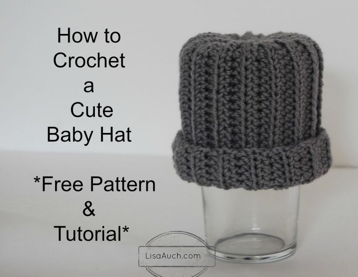 Crochet Baby Hat Tutorial Step By Step : 24 best images about Learn how to Crochet Crochet for ...