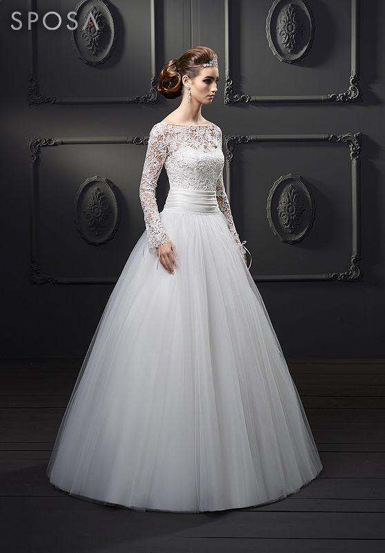 SPOSA 2014 Kleid mit Spitze und extra breitem Tüllrock