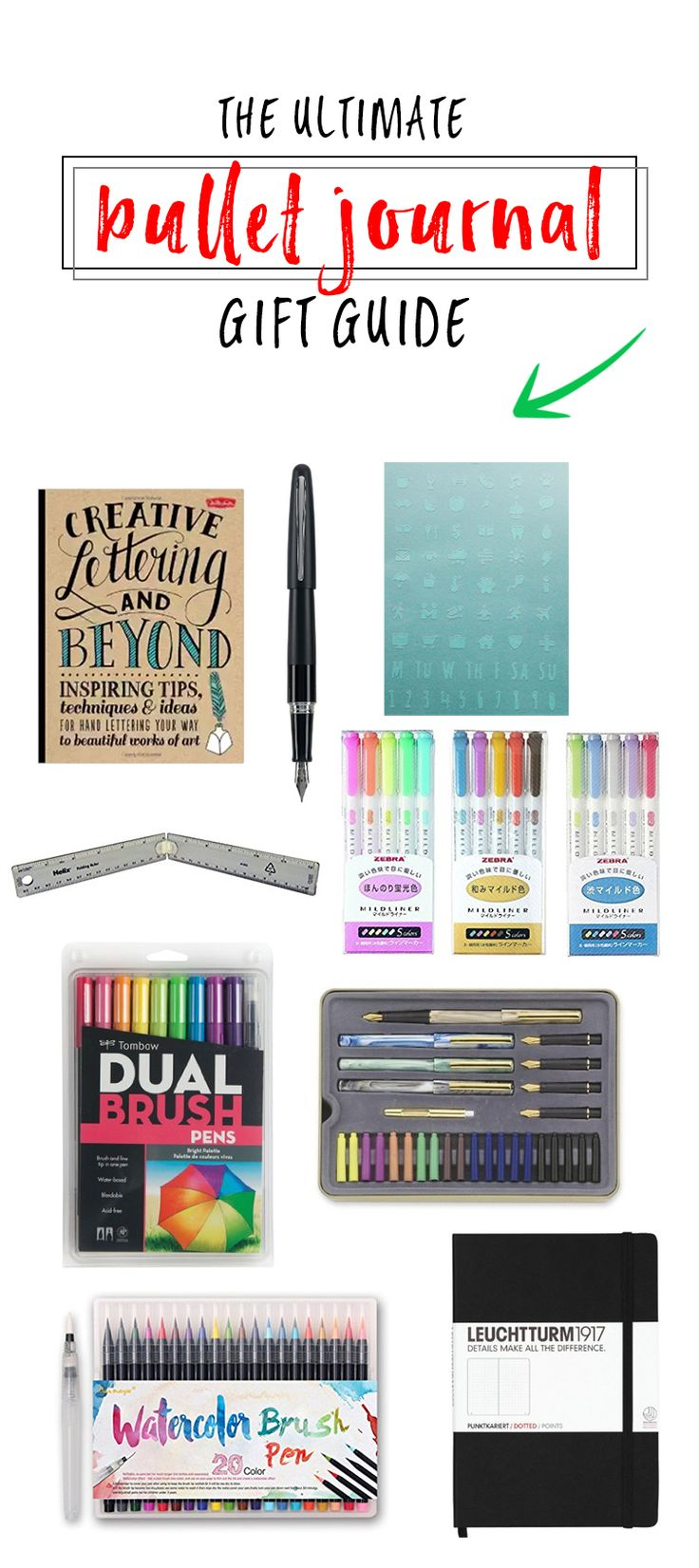Get ahead of shopping this year and check out our gift guide for that bullet journaler in your life! -- Bullet Journal Gift Guide http://productiveandpretty.com/bullet-journal-gift-guide/?utm_campaign=coschedule&utm_source=pinterest&utm_medium=Liz%20and%20Jen%20%40%20Productive%20and%20Pretty&utm_content=Bullet%20Journal%20Gift%20Guide