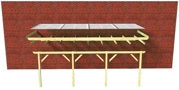 Decouvrez cette Pergola Auvent en Bois 198 × 273 cm (4.75m2) avec Toit en PVC M2TA a prix reduit ! - LeKingStore