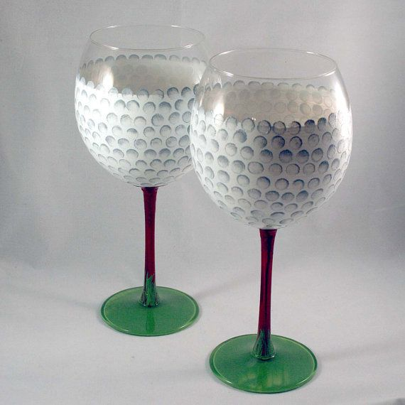 Hand Painted Wine Glasses  Set of 2  For the Love by StoneCreekArt, $26.00