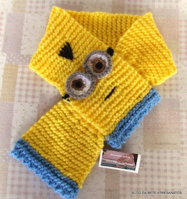 Cachecol Infantil Minions - Gustavo