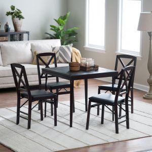 Round Card Table And Chairs Set
