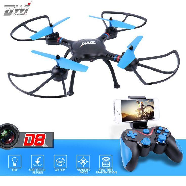 FPV RC Quadcopter RC Dron z Kamerą hd WiFi Zdalnego Sterowania helikopter Zabawka 2.4G Wysokości Trzymać ALT Foto Video Dwi Dowellin D8