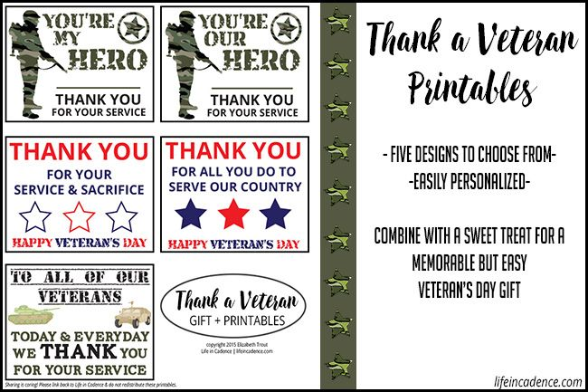 Looking for a gift for a vet you know? Here's a simple (and pretty much free!) way to show how much you appreciate their service to our country!