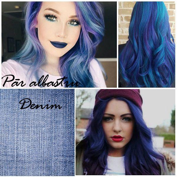 Cel mai cool trend, parul albastru denim, ridicol de frumos, DA sau nu?