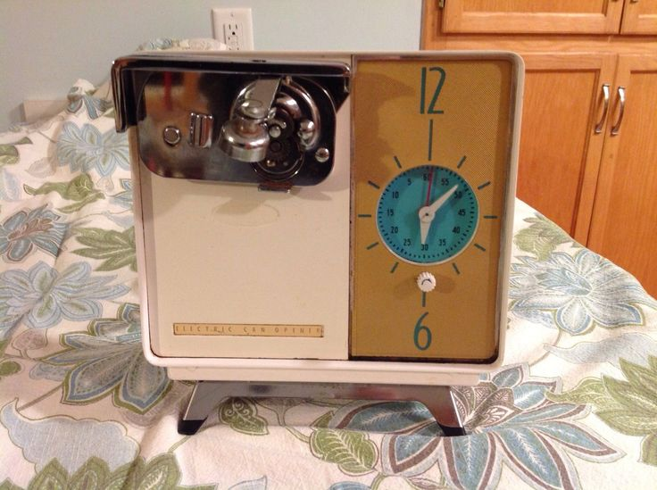 Rival Mid Century Electric Can Opener w Built in Clock RARE Find Works | eBay