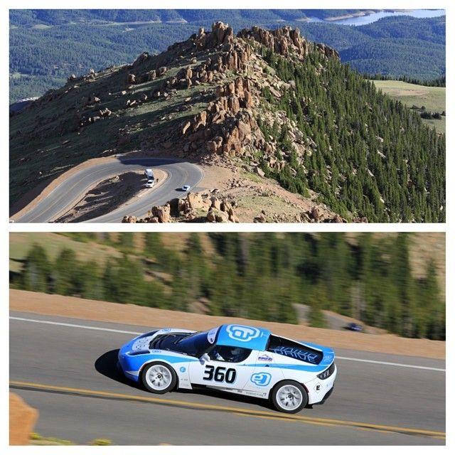 #DriveeO used a Tesla Roadster to climb the legendary Pikes Peak. #cars #tesla #horsepower #vehicles #exoticcars
