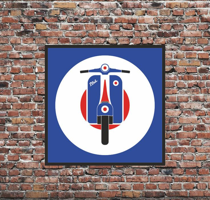 Are you interested in our Mod Target Scooter Print? With our Mods Symbol Vespa Scooter you need look no further.