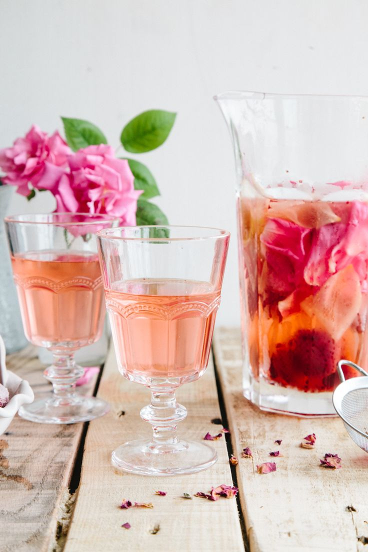 Rose, Lemon and Strawberry Infused Water