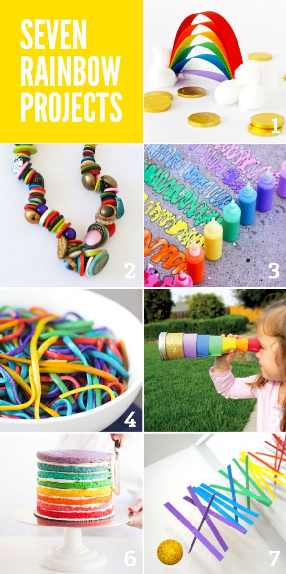 Seven Fabulous RAINBOW projects to do with your kiddos via @PagingSupermom