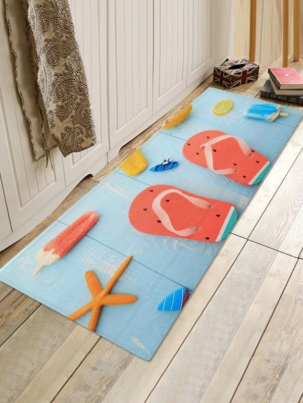 Summer Ice Cream Flip Flops 3d Print Floor Rug Floor Rugs Rugs