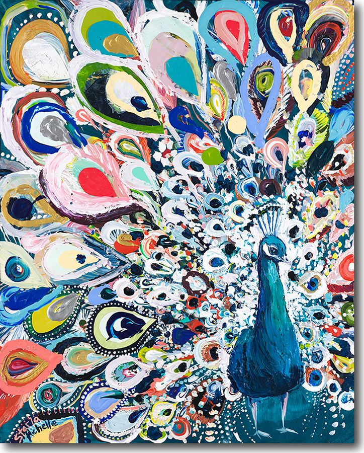 Peacock Rainbow - SkylineArtEditions.com 12x15