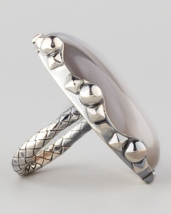 SILVER: Natural Stone Ring - Neiman Marcus