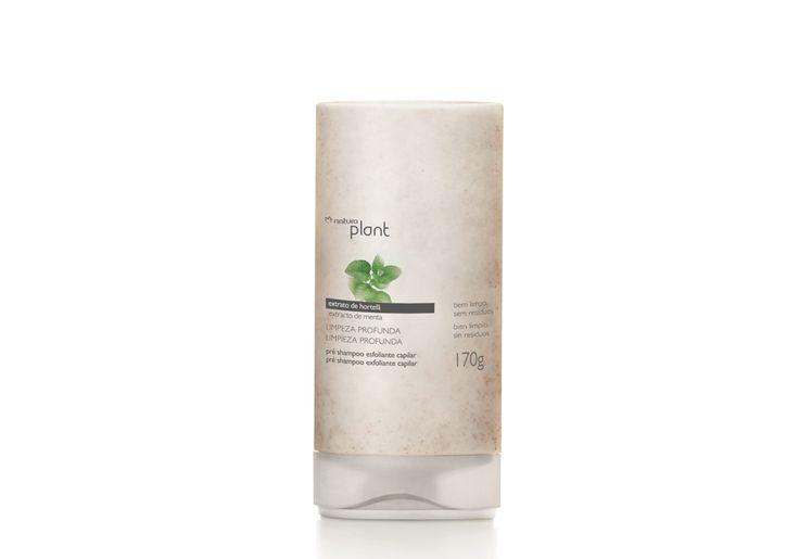 Pré Shampoo Esfoliante Limpeza Profunda Plant - 170g - Promove a limpeza do couro cabeludo removendo os resíduos dos fos.