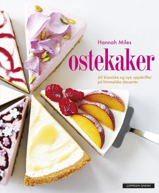 Her får du 60 velprøvde klassiske oppskrifter og moderne ostekaker med nye og spennende smakskombinasjoner.