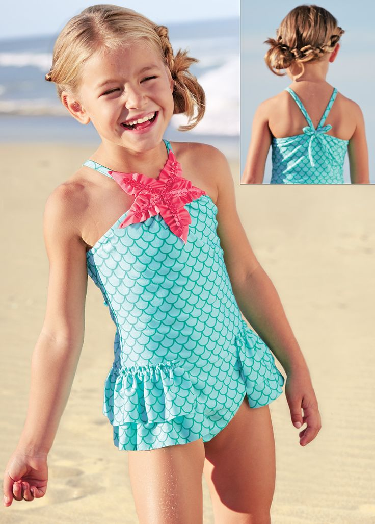 I may have to buy this Starfish Swim Suit for A! It is so stinkin' cute!