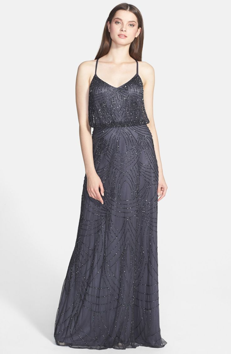 Adrianna Papell Beaded Chiffon Blouson Dress. $298. sizes 0-16. 5 colors