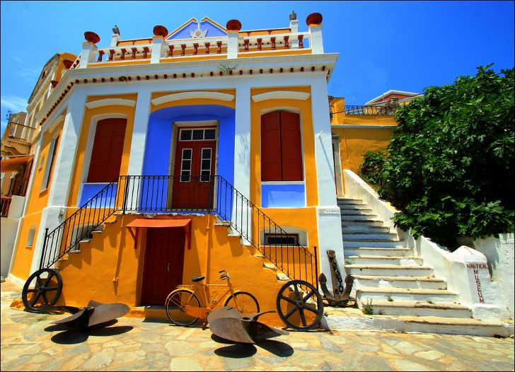 At the island of Symi.