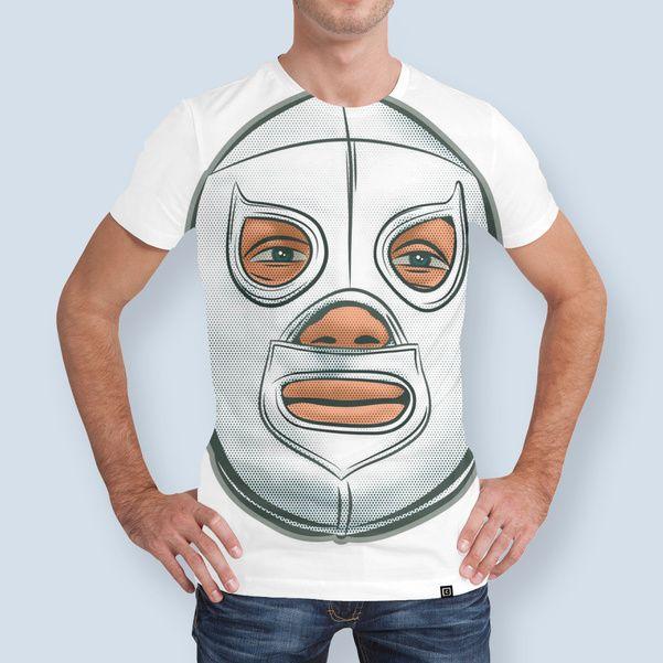 Discover «Santo El Enmascarado de Plata / El Santo The Silver Masked», Limited Edition Men's All Over T-Shirt by Saul Herrera - From 46€ - Curioos