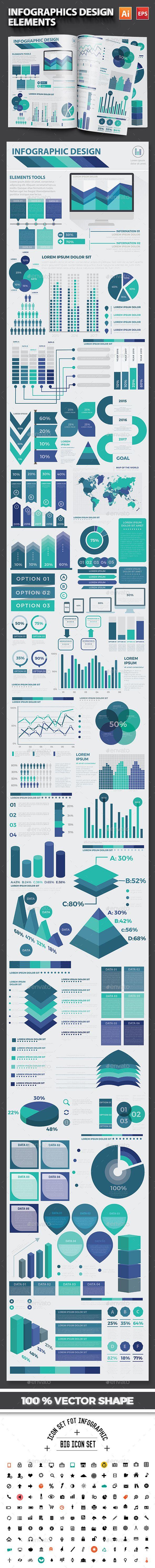 Design large banner in illustrator - Infographic Flat Elements Design