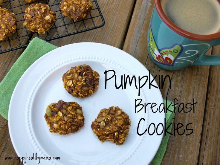Pumpkin Breakfast Cookies from Happy Healthy Mama