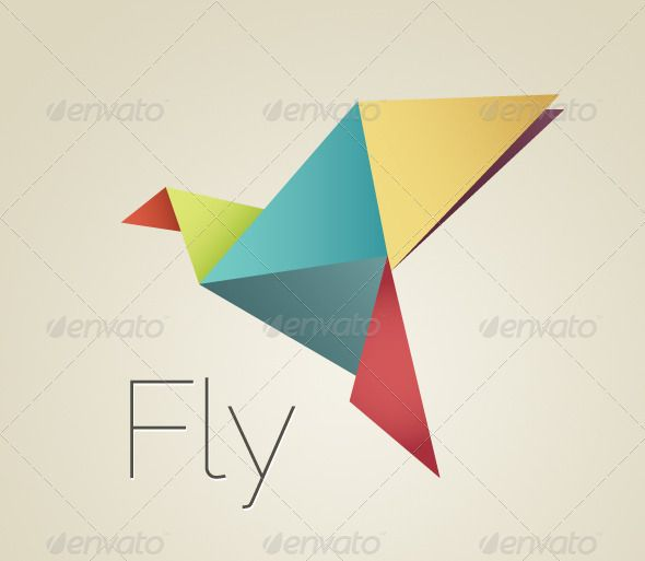 Colorful Origami Bird | Origami birds, Fonts and Logo ...