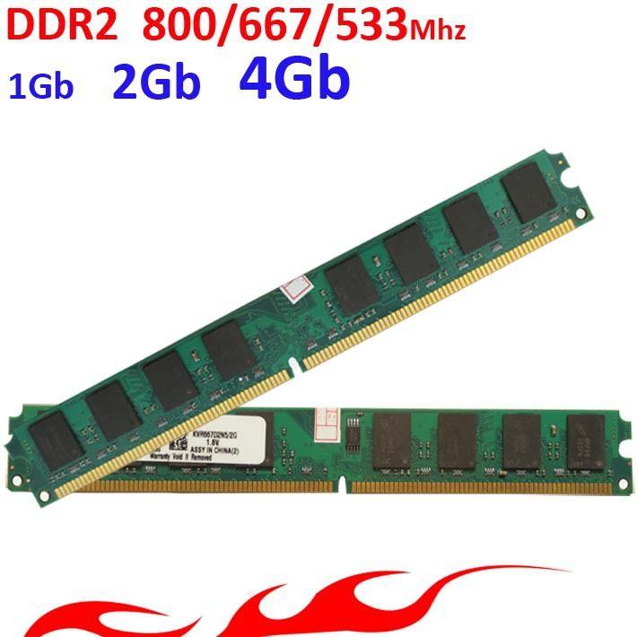 memoria ram ddr2 For Intel / for AMD  DDR2 800 667 533 Mhz -  1Gb 2Gb 4Gb / ddr2 RAM  -lifetime warranty- 800Mhz 667Mhz 533Mhz