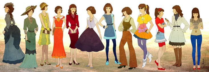 So cool. Tessa Gray through the ages (The Infernal Devices series)
