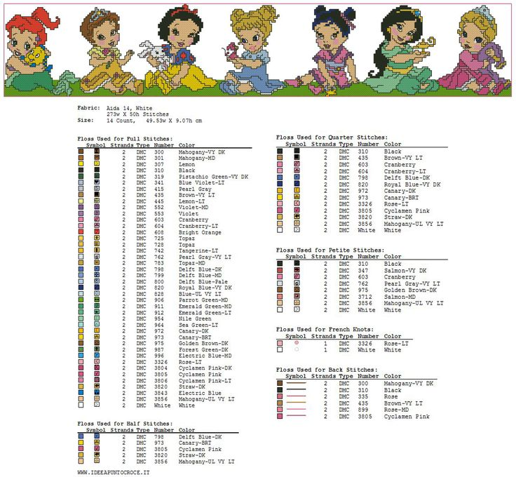 colori bordura baby principesse disney