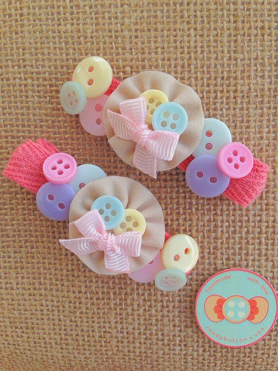 Pastel Baby Hairclip Pastel Hairclip Baby by candybuttonusa