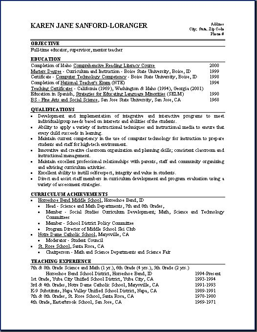 Qualifications For Resume Example - http://www.resumecareer.info/qualifications-for-resume-example-2/
