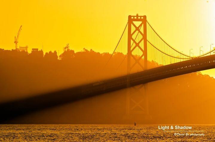 "Beautiful photo of San Francisco's ""other"" bridge by photographer David Yu."