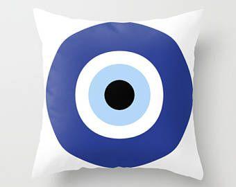Mondrian 3 bleus coussins housse de coussin taies