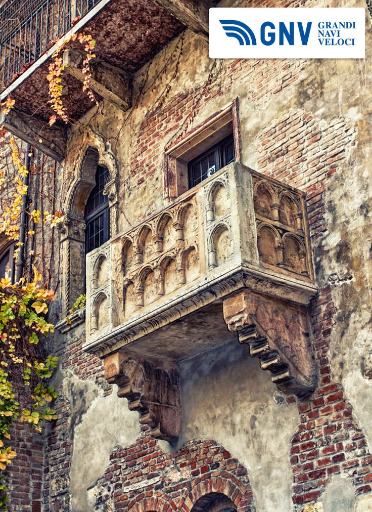 The famous #balcony of #Romeo & #Juliet in #Verona  Reach #Italy with #GNV here: http://www.gnv.it/en/