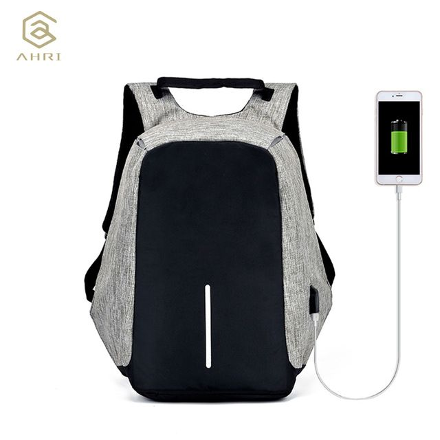 Best Offer $23.03, Buy AHRI Anti-theft Backpack Book Bags for School Backpack Casual Rucksack Daypack Oxford Canvas Laptop Fashion Man USB Backpacks