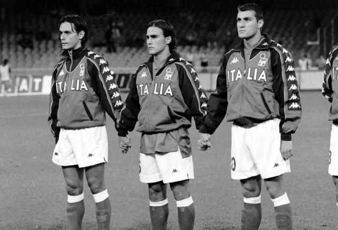 Italia. Filippo Inzaghi + Christian Vieri + Fabio Cannavaro.
