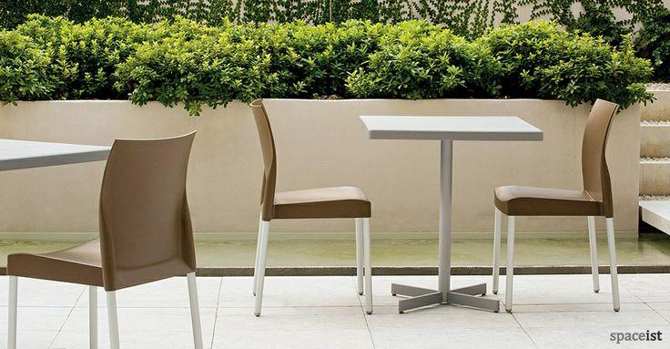 Grey X outdoor canteen tables