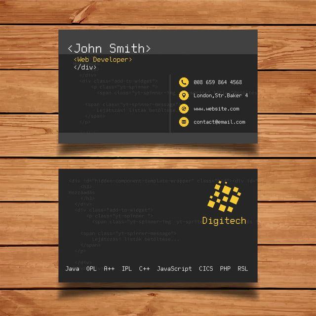 مبرمج بطاقة عمل سوداء Business Cards Creative Templates Colorful Business Card Professional Business Cards Templates