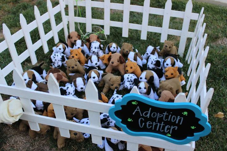 Puppy birthday party adoption center! See more party planning ideas at CatchMyParty.com!