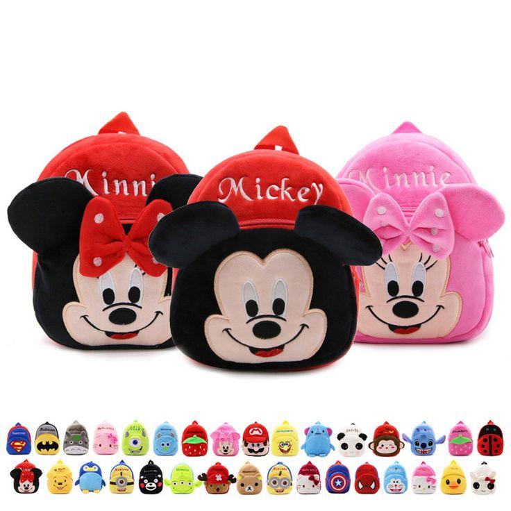 Neue 2016 Plüsch Minnie Kid Rucksack Kinder Schultasche für Mädchen Junge Studenten Schultasche Baby Niedlichen Taschen Mochila Infantil