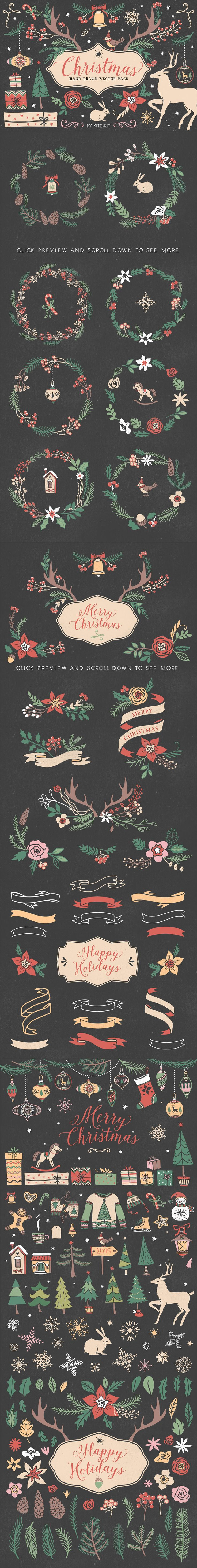 If I could choose just one Christmas vector pack to have, this would be my first choice :)