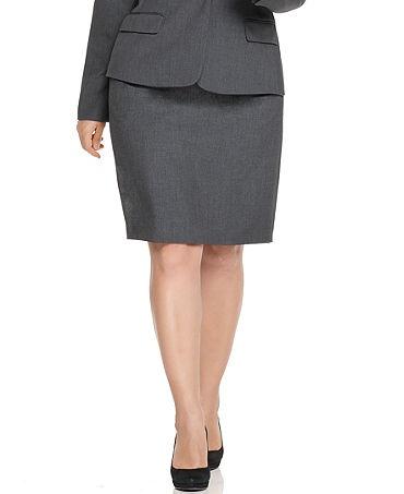 Plus size pencil skirt.
