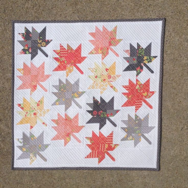 Fall is just around the corner and I have designed the cutest little mini quilt…