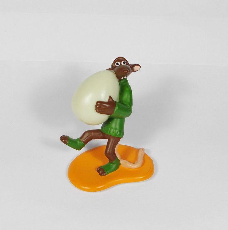 Chicken Run - Fetcher Figure - 4 cm Tall - Aardman 1999 Cereal Cake Topper (1)