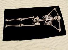 2016 Nouveau Noir Couleur 3D Squelette Humain Crâne Grand Bath Beach Towel De Bain Salle De Bain Towel 140x70 cm (55 ''x 27'') Livraison Gratuite(China (Mainland))