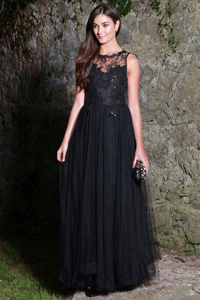 Harper Black Tuille Dress