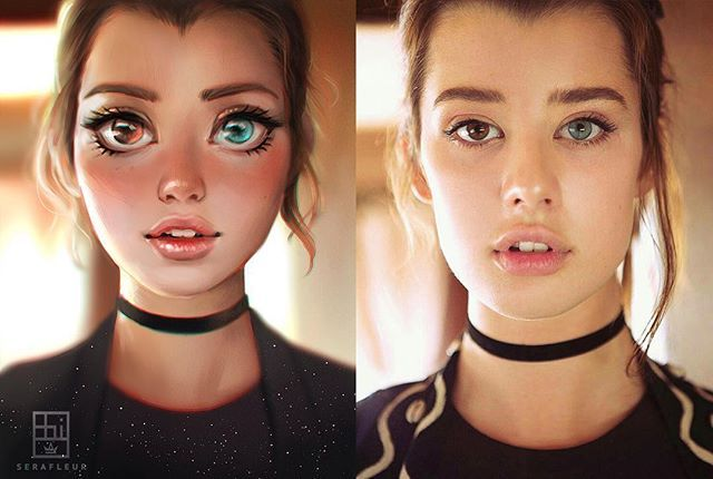 Cartoon and Reality version of @krotchy (photographed by @tedemmons) Took me 2 hrs and 43 mins using Wacom Intuos 5 and Photoshop CS6 :) **Video tutorial will be included in my November package on my Patreon! http://patreon.com/serafleur #art #artph #drawing #cartoon #model #portrait #digitalart #digitalpainting #photoshop #digitaldrawing #drawingoftheday #artwork #art #artist #artstagram #artoftheday #digitalartwork #sarahmcdaniel
