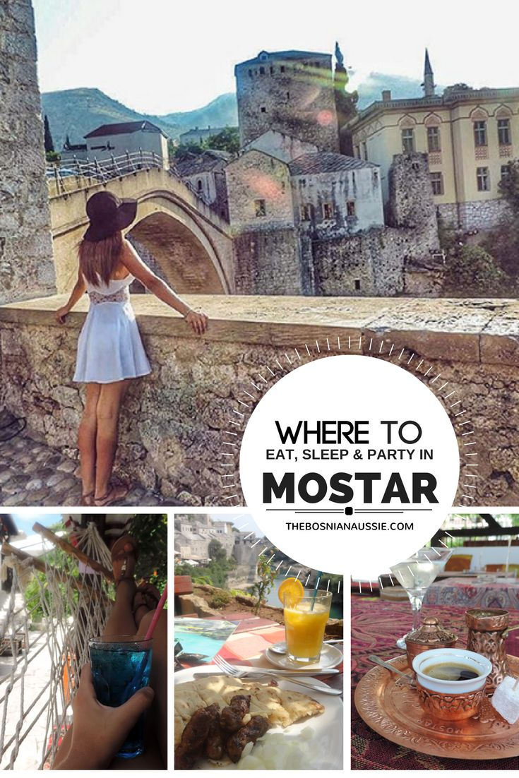 From cafes and restaurants, hostels and b&b's to cocktail bars, i bring you my favourite spots to eat, sleep and party in Mostar, Bosnia & Herzegovina.   http://www.thebosnianaussie.com/blog/eat-relax-party-mostar/  #mostar #bosnaandherzegovina